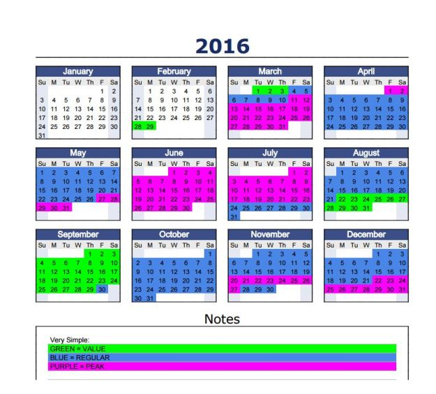 Tiered Pricing: 2016 Tiered Pricing And Calendar